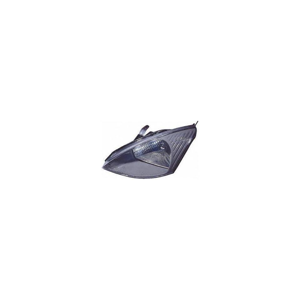 03 04 FORD FOCUS HEADLIGHT LH (DRIVER SIDE), Assy, w/o HID Lamp, SVT Model , Gray Bezel (2003 03 2004 04) F100102 3S4Z13008AD