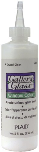 Clear Crystals Colors Colors (Plaid Gallery Glass Window Color 8 Oz. Bottle: Crystal Clear)