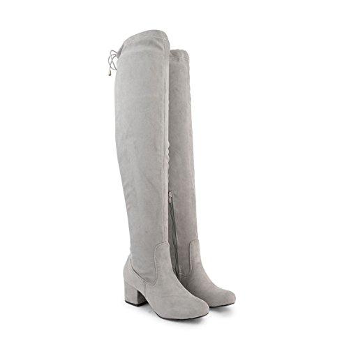 Footwear Sensation - Botas Efecto Arrugado mujer gris ante
