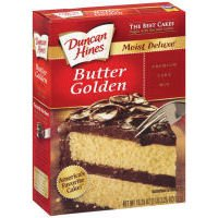 Duncan Hines Classic Butter Golden Cake Mix 18.25 oz (Pack of 12)