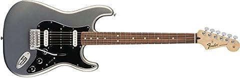 Fender Standard Stratocaster Electric Guitar - HSH - Pau Ferro Fingerboard, Ghost Silver - Fender Chrome Deluxe Guitar