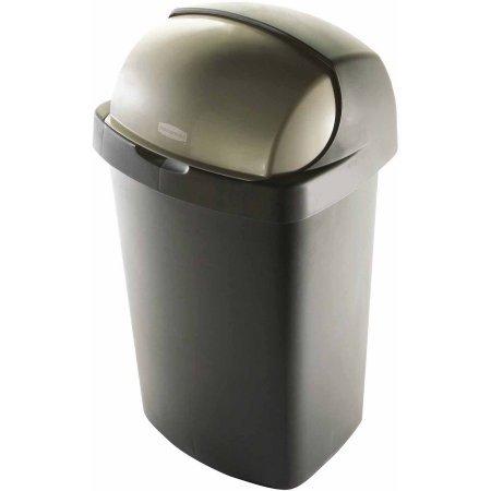 Rubbermaid 13-Gallon Roll Top Wastebasket Bronze WLM (Wall Roll Top)