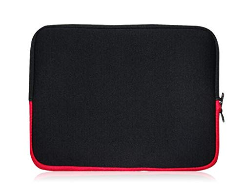 Sweet Tech BLACK/RED Neoprene Laptop Case Cover Sleeve suitable for Dell Latitude 3390 2-in-1 13.3 Inch Laptop