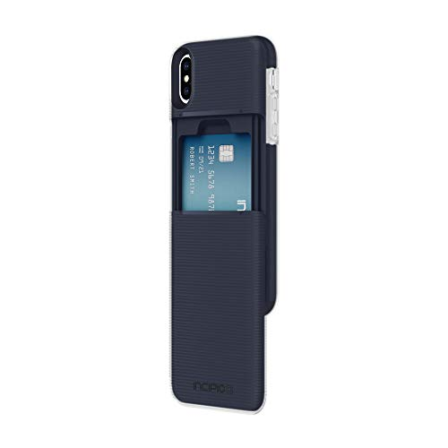 """Incipio Stashback Wallet Case for iPhone Xs (5.8"""") & iPhone X with Heavy Duty Credit Card Compartment - Blue from Incipio"""
