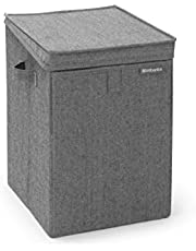 Brabantia Stackable Laundry Box, 9.2 Gallon (35L), Pepper Black,120442