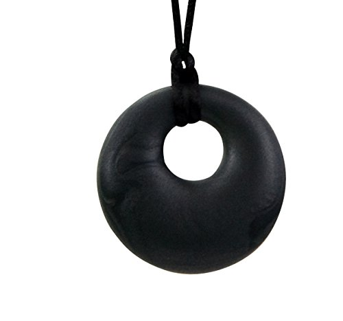 Stimtastic Chewable Silicone Round Pendant Nontoxic BPA and Phthalate Free, ()