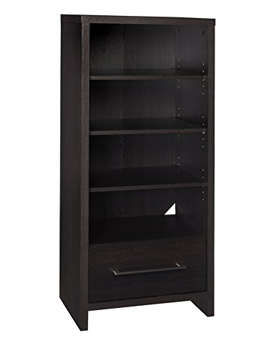 ClosetMaid 1661 Media Storage Tower Bookcase with 2 Drawers, Black ()