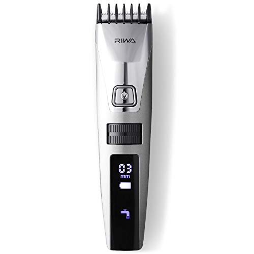 RIWA Electric Hair Clippers Cordless Hair Trimmers, USB Rechargeable Hair Clipper with 15 Built-in Length Settings, Waterproof Hair Trimmer for Men Women Kids Family Use