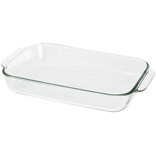 Pyrex Bakeware 2-Quart Oblong Baking/Serving Dish, Clear