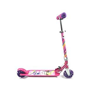 Titan Flower Princess Folding Aluminum Girls Folding Kick scooter with LED Light Up Wheels (Age 5+), Pink