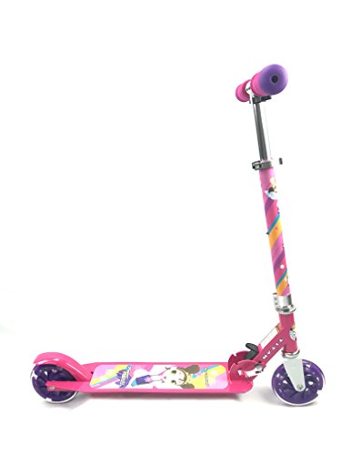Titan Flower Princess - Patinete plegable de aluminio para niñas con ruedas LED Light Up (edad 5+)