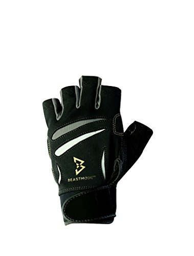 Bionic Men's Beast Mode Fitness Fingerless Gloves, Large (Gloves Fitness Mens Bionic)