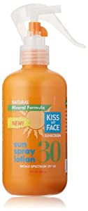 Kiss My Face Sun Spray Natural Sunscreen Lotion With Hydresia