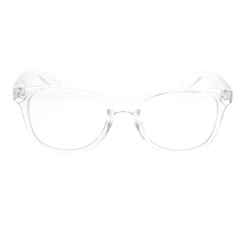 80s Nerdy Clear Transparent Thick Plastic Frame Optical Eye - Eyeglass Plastic For Frames Men Clear