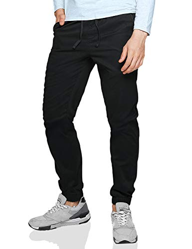 Match Men's Loose Fit Chino Washed Jogger Pant (30, 6535 Steel Gray) -