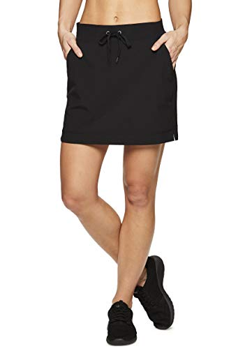 (RBX Active Women's Golf/Tennis Athletic Skort with Bike Shorts S19 Black S)