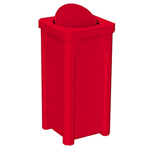 20 GALLON TRASH RECEPTACLE WITH BARRIER LID | RED 20 Gal Receptacle Lid
