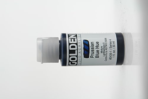 Golden Fluid Acrylic Paint 1 Ounce-Historical Prussian Blue Hue (Acrylic Fluid Paint)