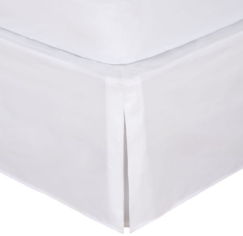White Classic Bedskirt - Magic Skirt Tailored Bedskirt, Never Lift Your Mattress, Classic 14