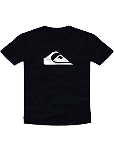 (Quiksilver Men's COMP Logo TEE Shirt, Black/White M)
