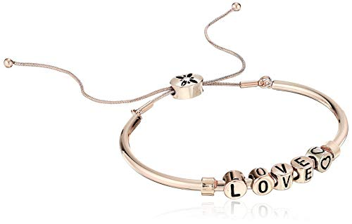 BCBG Generation Love' Adjustable Pulley Bracelet, Rose Gold, One Size