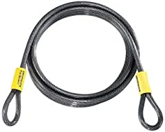 Braided steel cable has a greater density than twisted cable.        Double-looped cable for use with all U-locks and padlocks.