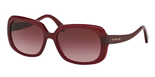 Coach Women's HC8178 Sunglasses Aubergine / Burgundy Gradient - Sunglasses Coach Mens