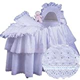Baby Doll Little Angel Bassinet Set Ribbon, Blue For Sale