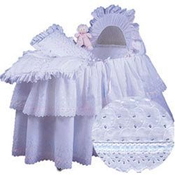 Baby Doll Little Angel Bassinet Set Ribbon, Blue by Baby Doll