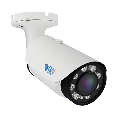 GW Security 4K (3840×2160) 8MP @30FPS Realtime 2.8-12mm 4X Optical Zoom Motorized Auto Focus Lens Spotlight Waterproof Onvif H.265 PoE IP Bullet Camera, 200FT Night Vision, Audio&Alarm Port