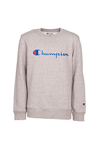 Champion Unisex Heritage Fleece Script Pullover Sweatshirt (6, Oxford Heather) ()