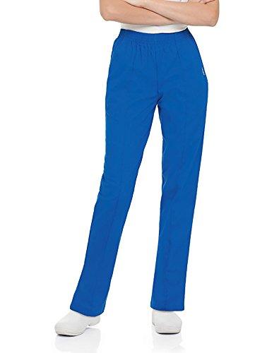 (Landau Women's Classic Fit Elastic Waist Scrub Pants Xx-Large Petite Royal Blue)