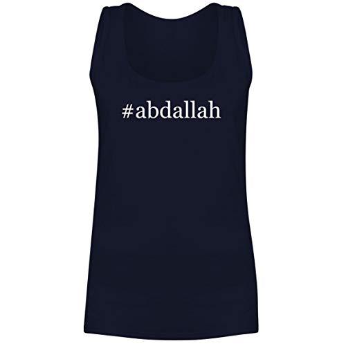 The Town Butler #Abdallah - A Soft & Comfortable Hashtag Women's Tank Top, Navy, Medium