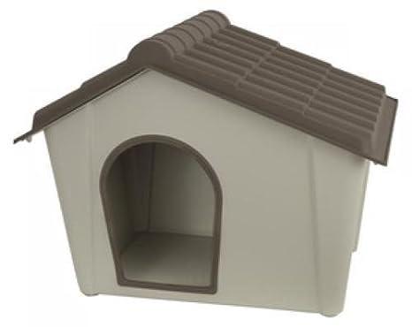Caseta para perros, de resina, cm 79 x 59,2 x 60,8 (h), pardo beige, grande 93380.: Amazon.es: Jardín