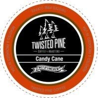 (Twisted Pine Candy Cane Flavored Coffee, Single-Serve Cups for Keurig K-Cup Brewers, 24 Count)