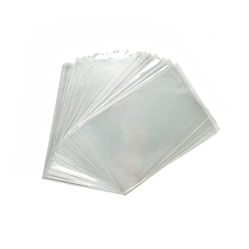 ZICOME 200 Pack Clear Party Favor Bags for Small Candy Cookie Soap Cake Pops, 3-3/5 Inch x 6 Inch