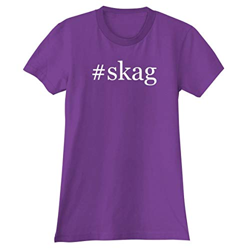 #Skag - A Soft & Comfortable Hashtag Women's Junior Cut T-Shirt, Purple, Medium