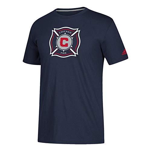 (adidas Chicago Fire Locker Room Tee Squad Logo Tshirt (Large))
