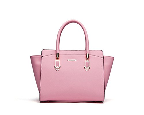 New Winter QCKJ-Borsa a spalla da donna, borsetta Siold PU, colore: nero/rosa