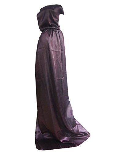 [Shapenty Adult Christmas Halloween Party Devil Death Hooded Cloak Vampire Role Play Costumes Capes (X - Large,] (Purple Hooded Robe Adult Costumes)