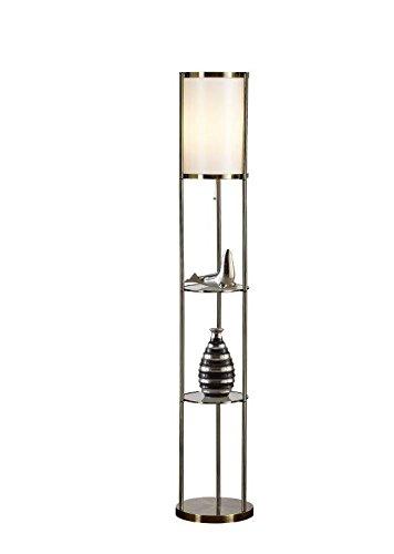 - Artiva USA A21040FAB Exeter Shelf Floor Lamp, 63