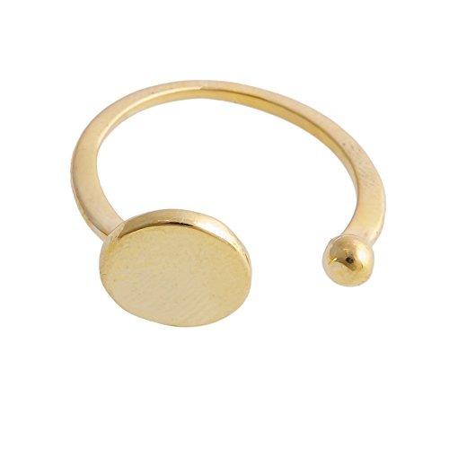 CHUANGYUN Minimalist Open Circle Ring Cool Jewelry for Women 3 Colors ()