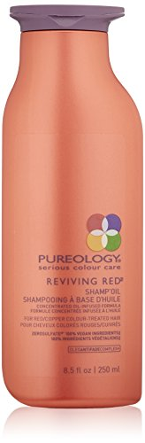 Pureology Reviving Red Shamp Oil for Red and Copper Color Treated Hair, 8.5 Fl Oz