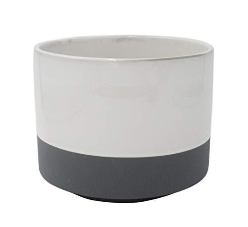 2-toned stoneware planter
