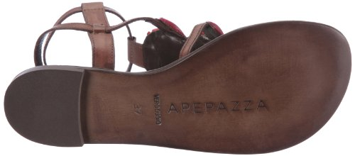 Bella Brown Marrone Toe Apepazza Women's Sandals Braun Open Vacchetta PYTYgW8d