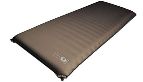 Black Pine Sports Big Johnson Self-Inflating Camping Mat, 4-Inch, Stone by Blackpine Sports (Image #1)
