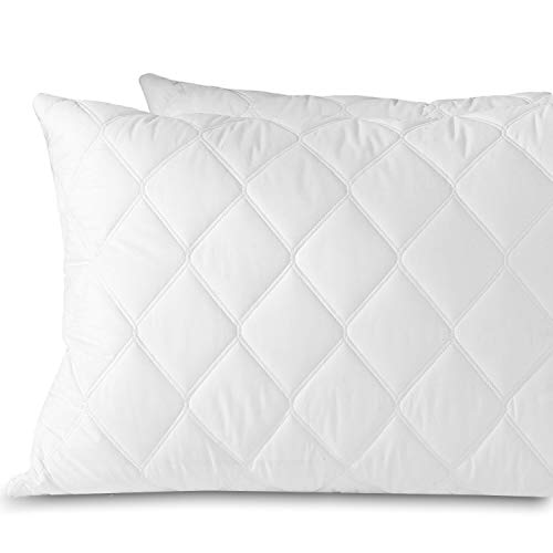 Classic Pillow Feather - downluxe Set of 2 Quilted Down Feather Pillows for Sleeping(King,20x36) 100% Cotton Downproof Cover Suprior Quality Bed Pillows