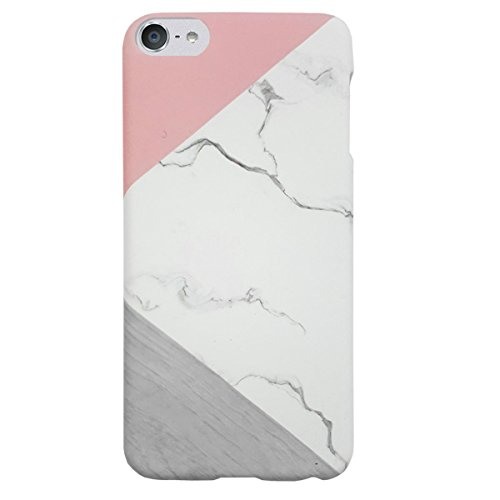 J.west iPod Touch 6th Generation Case, iTouch 5/6/7 Case Unique Marble Design Pink Geometric Anti-Scratch &Fingerprint Shock Proof Ultra Thin Non Slip ...