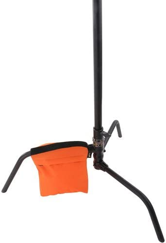Orange Cordura 6 Pack 18 lb Impact Empty Saddle Sandbag
