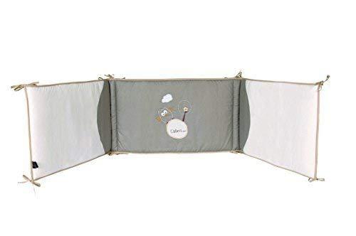 Ptit Basile protection t/ête Sadapte aux lits de dimensions 60x120 cm et 70x140 cm. Joli Tour de lit b/éb/é brod/é en coton BIO collection mixte Chouette